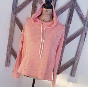 J. CREW factory striped hoodie 100% cotton medium